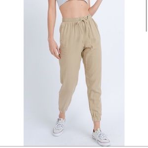 ONLY LARGE AVAILABLE! Khaki Joggers